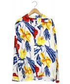 FLAGSTUFF(フラッグスタッフ)の古着「ハワイアンシャツ」|ホワイト