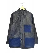 BLUE BLUE(ブルーブルー)の古着「リバーシブルカバーオール」|インディゴ