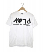 PLAY COMME des GARCONS(プレイコムデギャルソン)の古着「ハートロゴTシャツ」|ホワイト