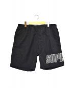 Supreme(シュプリーム)の古着「ロゴアップリケウォーターショーツ」 ブラック