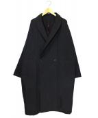 YANTOR(ヤントル)の古着「グログランドルマンコート」|ブラック