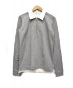 BALENCIAGA(バレンシアガ)の古着「ハーフジッププルオーバーシャツ」|グレー