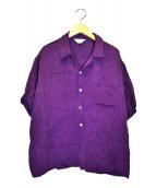 UNUSED(アンユーズド)の古着「キュプラシャツ」|パープル