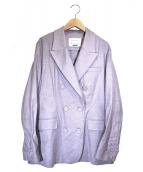MAISON SPECIAL(メゾンスペシャル)の古着「リネンダブルジャケット」|パープル
