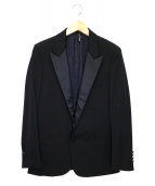 DIOR HOMME(ディオール オム)の古着「サテンピークトラベル1Bジャケット」|ブラック