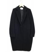 ENFOLD(エンフォルド)の古着「圧縮ウールチェスターコート」|ブラック