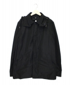 BURBERRY BRIT(バーバリーブリット)の古着「ノヴァチェックライナー付ハーフトレンチコート」 ブラック
