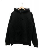 Supreme(シュプリーム)の古着「キルティッドフーデットスウェットシャツ」|ブラック