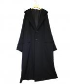 Yohji Yamamoto pour homme(ヨウジヤマモトプールオム)の古着「シワギャバジンお尻抜染フードツキドレス」|ブラック