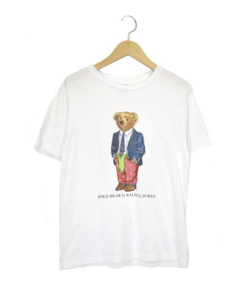 POLO RALPH LAUREN(ポロ・ラルフローレン)POLO RALPH LAUREN (ポロラルフローレン) ポロベアTシャツ ホワイト サイズ:Mの古着・服飾アイテム