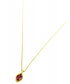 agete(アガット)の古着「K18ワンポイントネックレス」