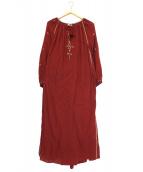ISABEL MARANT ETOILE(イザベルマランエトワール)の古着「エンブロイダリー刺繍マキシワンピース」|レッド