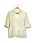 MAISON SPECIAL(メゾンスペシャル)の古着「リネンハーフスリーブジャケット」|アイボリー