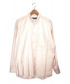 ISSEY MIYAKE(イッセイミヤケ)の古着「スタンドカラーシャツ」|ピンク