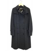 SANYO(サンヨー)の古着「ウールダブルトレンチコート」|グレー