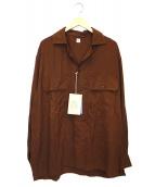 KAPTAIN SUNSHINE(キャプテン サンシャイン)の古着「オープンカラーシャツ」|ブラウン