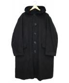 Y's for men(ワイズフォーメン)の古着「ダック地オーバーサイズフードコート」|ブラック