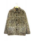Supreme(シュプリーム)の古着「リバーシブルフェイクスウェードレオパードコート」|ブラック