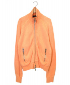 DSQUARED2(ディースクエアード)の古着「ダブルジップスウェットジャケット」|オレンジ