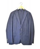 allegri(アレグリ)の古着「コットンスレレッチ2Bシャンブレージャケット」|ブルー