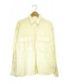 Porter Classic(ポータークラシック)の古着「ロールアップリネンシャツ」|アイボリー