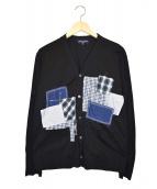 COMME des GARCONS HOMME(コムデギャルソンオム)の古着「パッチワークデザインカーディガン」 ブラック