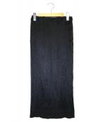 ISSEY MIYAKE FETE(イッセイミヤケ フェット)の古着「エコファープリーツスカート」|ブラック