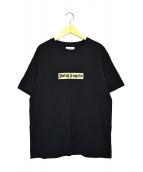 Palm Angels(パームエンジェルス)の古着「ボックスロゴプリントTシャツ」|ブラック