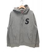 Supreme(シュプリーム)の古着「Sロゴフーデットスウェットシャツ」|グレー
