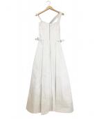 CASA FLINE(カーサフライン)の古着「フロントホックプリーツワンピース」|ホワイト