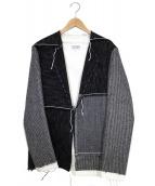 Martin Margiela14(マルタンマルジェラ14)の古着「パッチワークジャケット」|ブラック×ホワイト
