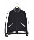 Rags McGREGOR(ラグスマックレガー)の古着「アスレチックスタジアムジャケット」|ホワイト×ブラック