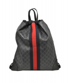 GUCCI (グッチ) ドローストリングバッグパック ブラック サイズ:下記参照 GG 473872 467891 EDEN