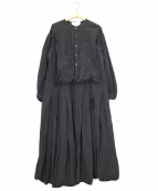 Veritecoeur(ヴェリテクール)の古着「コットンリネンチャーチドレス」|グレー