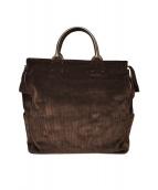 PORTER × brisbane moss(ポーター×ブリスベンモス)の古着「英国ブリスベインモス社製コーデュロイトートバッグ」|ブラウン