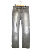 DOLCE & GABBANA(ドルチェアンドガッバーナ)の古着「ダメージ加工デニムパンツ」|グレー
