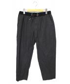 kolor/BEACON(カラービーコン)の古着「ドローストリングバックルパンツ」 グレー