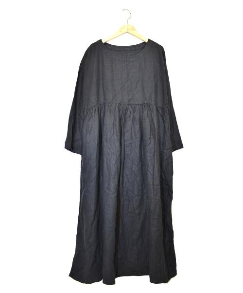 nest Robe(ネストローブ)nest Robe (ネストローブ) リネンワンピース ブラック サイズ:下記参照の古着・服飾アイテム
