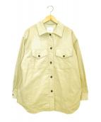Spick and Span(スピックアンドスパン)の古着「コーデュロイオーバーシャツジャケット」|ベージュ