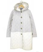 LAVENHAM(ラベンハム)の古着「フーデットキルティングコート」|ホワイト