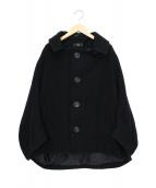 Y's(ワイズ)の古着「ウールワイドコート」|ブラック