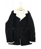 OLD JOE&CO.(オールドジョーアンドコー)の古着「ギャザーリングウエストランチジャケット」|ブラック