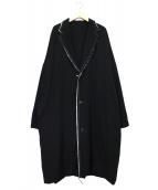 B Yohji Yamamoto(ビーヨウジヤマモト)の古着「ダブルコンビネーションコート」|ブラック