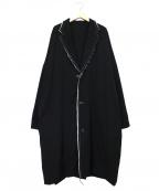 B Yohji Yamamoto(ビーヨウジヤマモト)の古着「ダブルコンビネーションコート」 ブラック