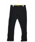 COMME des GARCONS HommePlus(コムデギャルソンオムプリュス)の古着「ポリシュクジュウパンツ」|ブラック