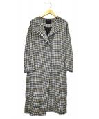 FLORENT(フローレント)の古着「シェットランドチェックコート」 ブラック×ホワイト