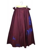 ACNE STUDIOS(アクネストゥディオズ)の古着「ペーパーバッグスカート」 ワインレッド