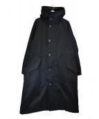 MAISON SPECIAL(メゾンスペシャル)の古着「フィンクスコットンオーバーサイズフーデットコート」|ブラック