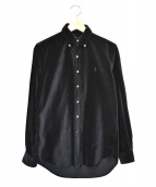 Ron Herman × POLO RALPH LAUREN(ロンハーマン×ポロラルフローレン)の古着「別注ベロアシャツ」 ブラック