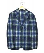 L.B.M.1911(エルビーエム1911)の古着「モヘヤチェックジャケット」|ブルー×グリーン